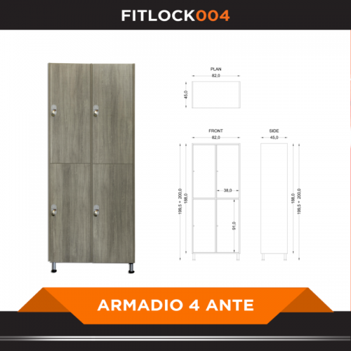 Armadio a 4 ante - FITART- Wellness Outlet