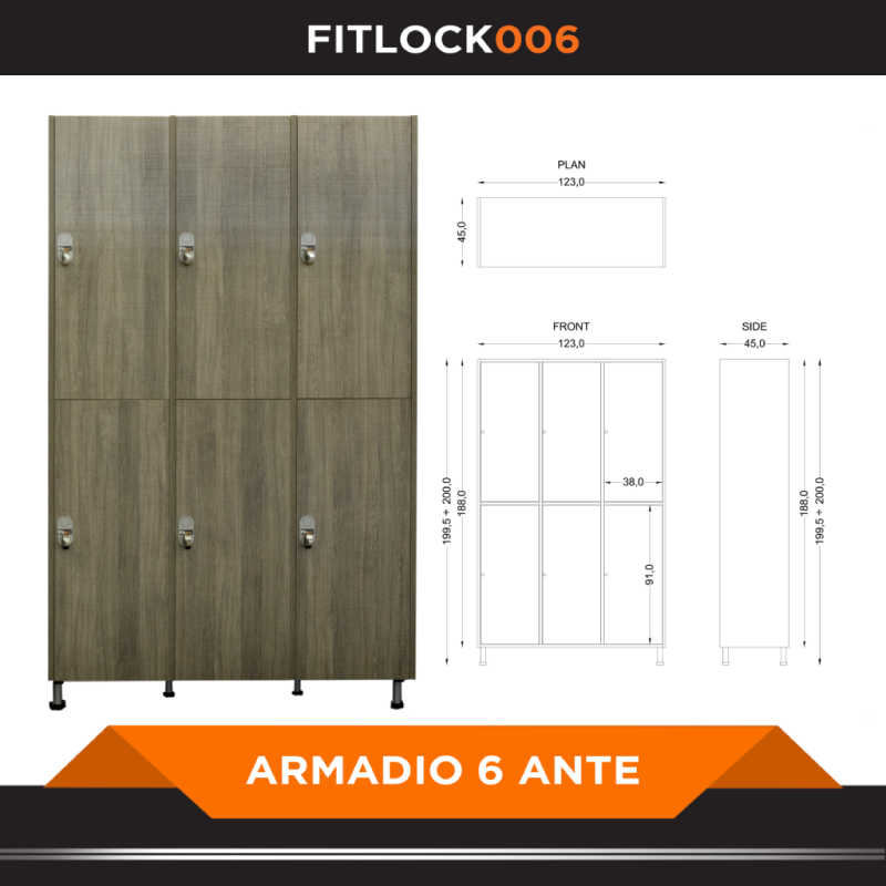 Armadio a 6 ante - FITART- Wellness Outlet