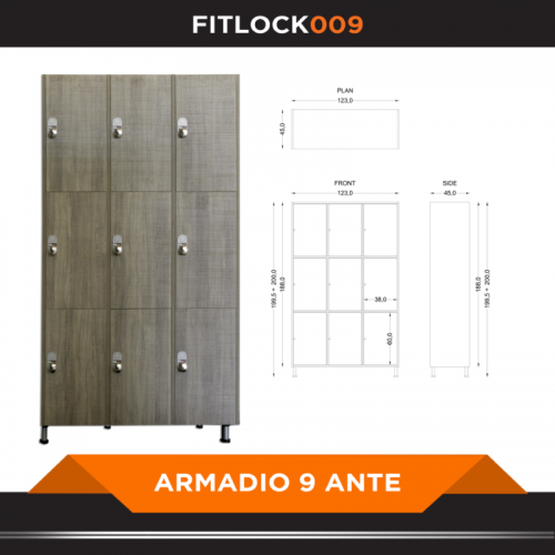 Armadio a 9 ante - FITART- Wellness Outlet