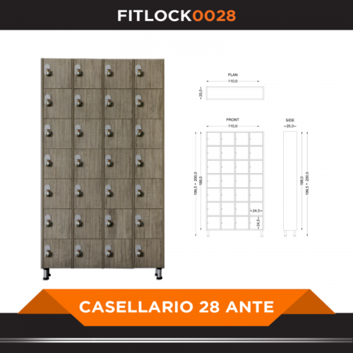Box with 28 doors - FITART- Wellness Outlet