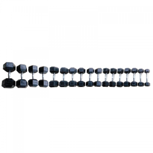 Hex rubber dumbbells MEG TOORX - Wellness Outlet