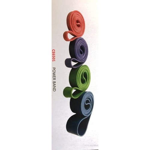 Power band CE6501 Elastico di resistenza ad anello Rosso 2000 x 0,45 x 22 mm - WellnessOutlet